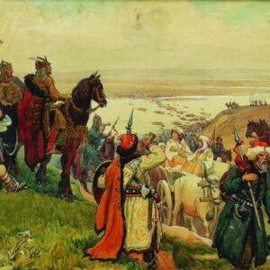 Българите преминават Дунава в Мала Скития Гюдженов