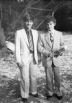My best friend Emanuil Pavlov and I on my graduation, Sofia, 1985