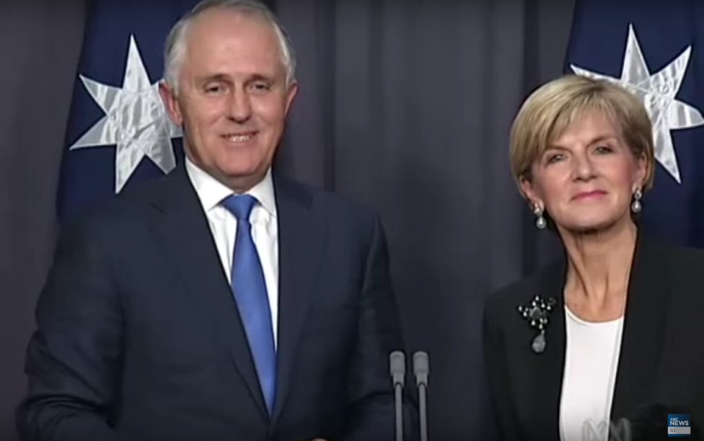Malcolm Turbull and Julie Bishop