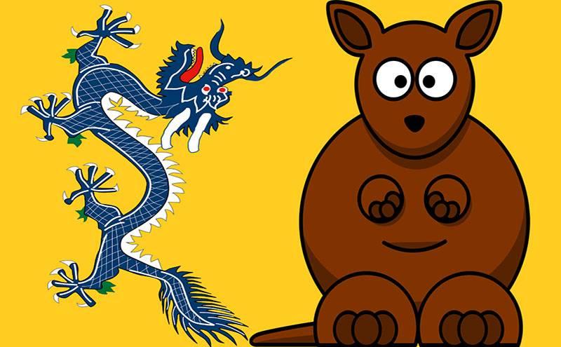 Chinese Dragon Australia Kangaroo