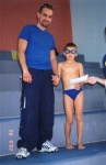 Vladimir completes his swimming lessons, 28 September 2002