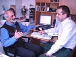 Mikhail Levin and I in Moscow, 21 April 2006