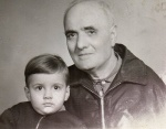 My grandfather and me, Sofia, 1967
