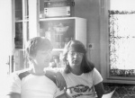 With my cousin Neli, Sofia, 1984