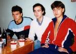 With school mates, Kiev, 1989