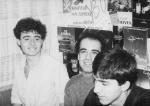 With classmates, 1990