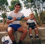 Владимир завършва първи срок в детската градина, 1996